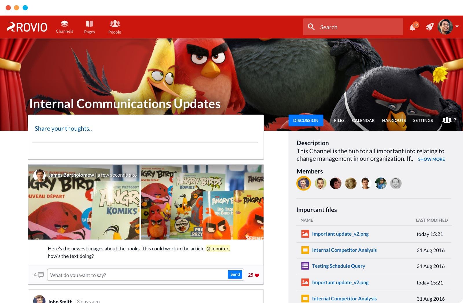 Rovio Screenshot